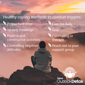 Healthy coping methods to deal with triggers